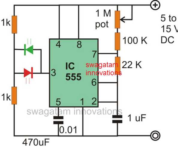 Alternate LED Flasher Circuit