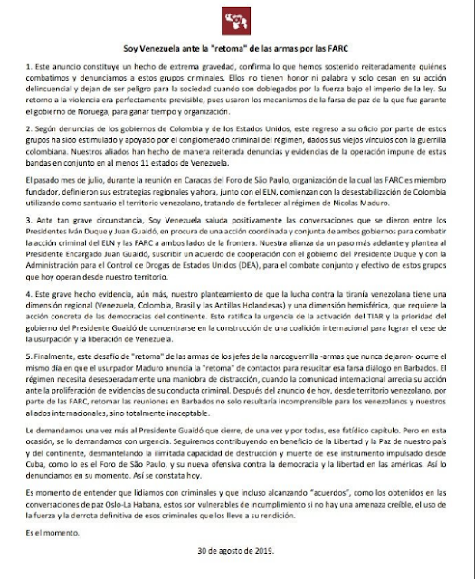 Soy Venezuela planteó cooperación de la DEA para combatir las Farc (Comunicado)
