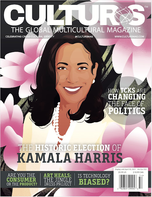 Kamala Harris Original Art Illustration Magazine Cover Design Pays Homage to 21st Century Diversity