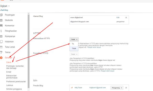 Cara Setting SSL di Blogger Mudah dan Simpel