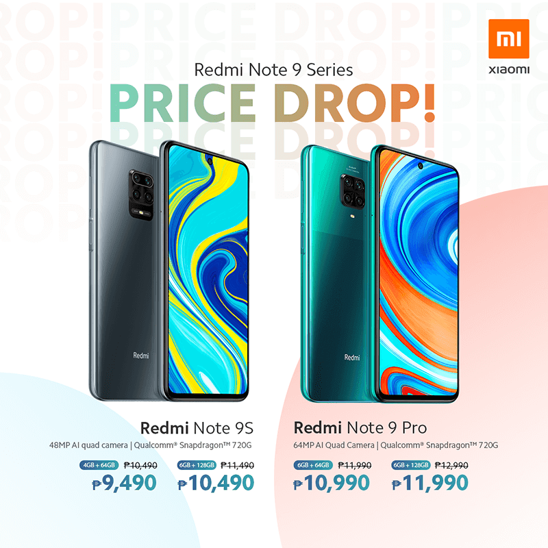 Updated prices for the Redmi Note 9 series