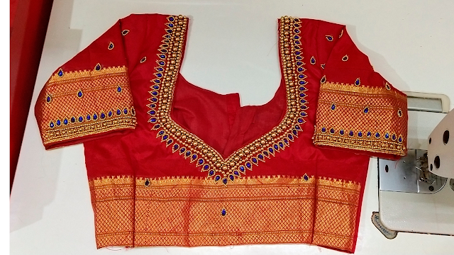embroidery blouse design chest 36 inch stitching At home