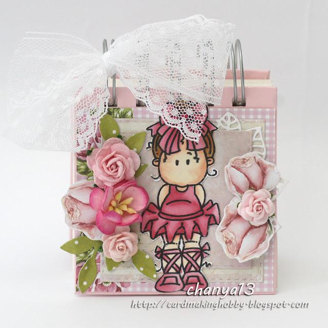 412. Mini notesik dla dziewczynki