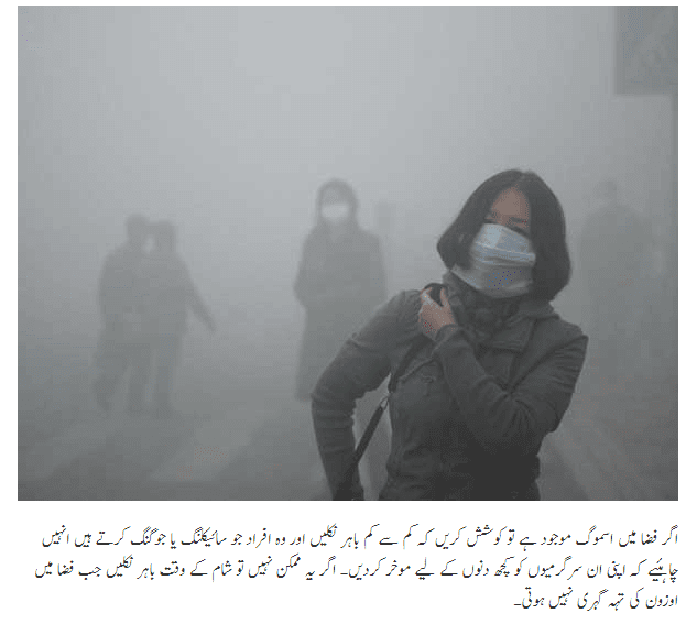 How Can We Protect Us from Smog