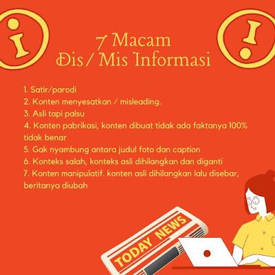 7 macam dis/mis informasi