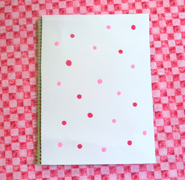 Notebook Cover Idea Polka Dot Notebook