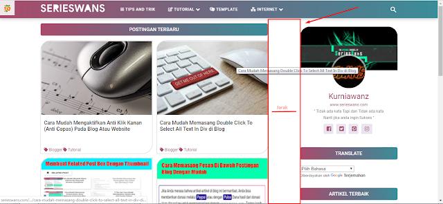 Cara Mengatur Ukuran Lebar Template Halaman Post dan Sidebar Blog