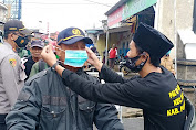 Bentuk Kepedulian, GP Ansor Kecamatan Bojong Bagikan Ratusan Masker kepada Masyarakat