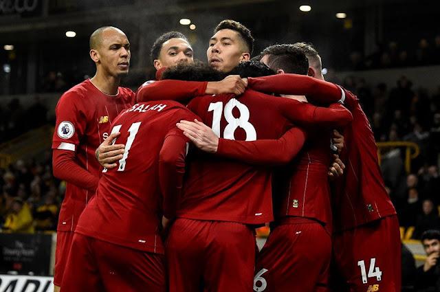 Video Cuplikan Gol: Wolverhampton 1-2 Liverpool (Premier League)