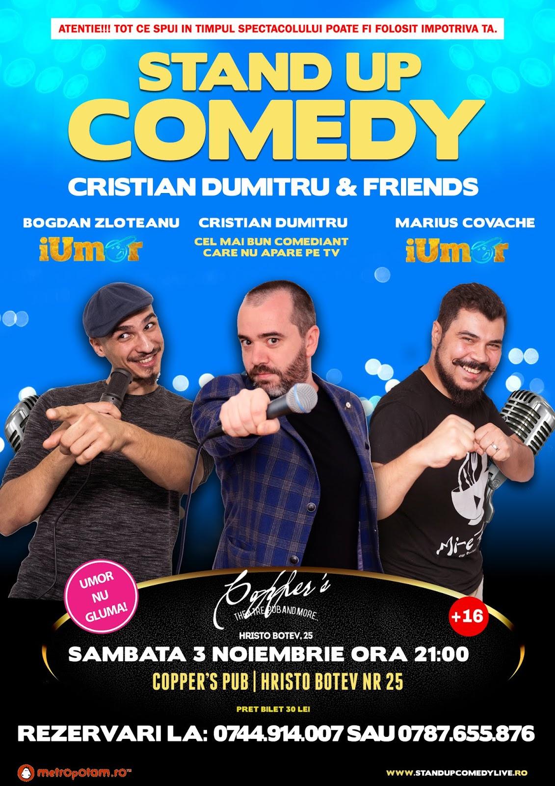 Stand-Up Comedy Bucuresti Sambata 3 Noiembrie