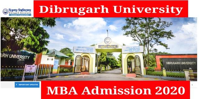 CMS, Dibrugarh University MBA Admission 2020: Online Registration Start