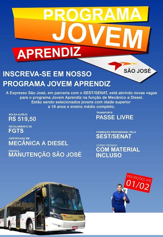 Expresso São José abre vagas para Jovem Aprendiz Mecânico