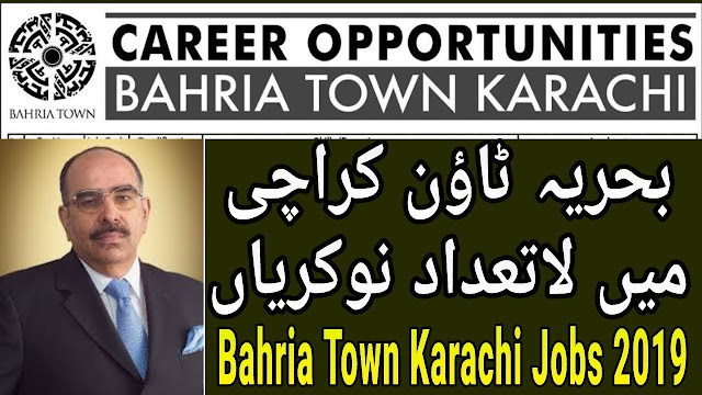 Bahria Town Karachi 559+Vacancy in 2019