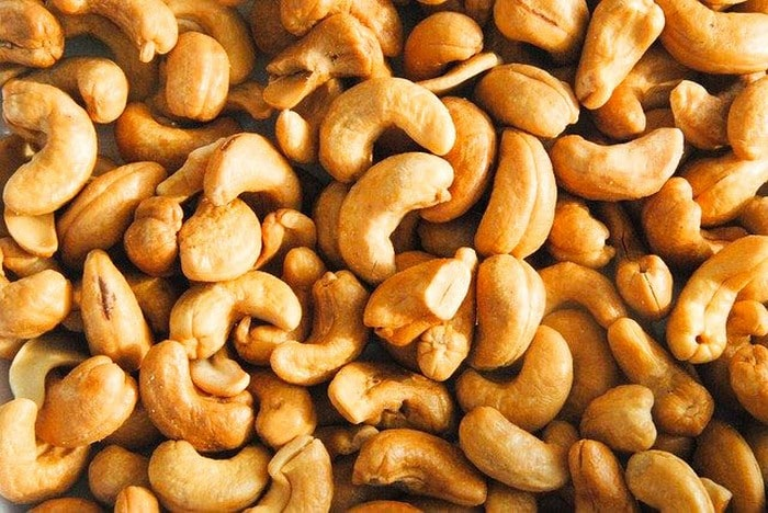 A close up of cashew nuts