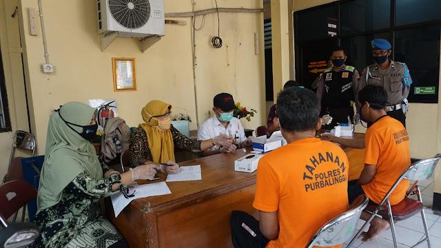 37 Tahanan Polres Purbalingga Jalani Rapid Test