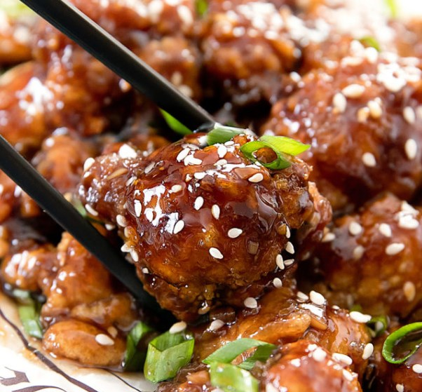 KOREAN FRIED CAULIFLOWER #vegetarian #friedchicken