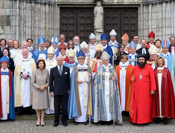 King Carl Gustaf and Queen Silvia attended episcopal ordination at Uppsala Cathedral