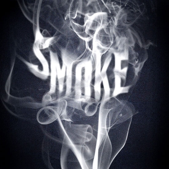 smoke text efect photoshop