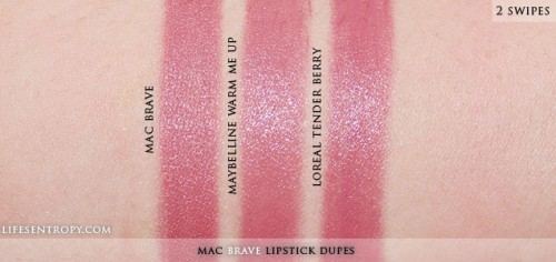 mac brave dupe maybelline warm me up