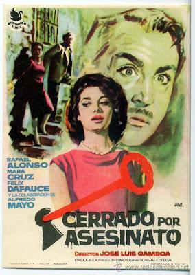 Cartel / Carátula: Carrado por asesinato 1961