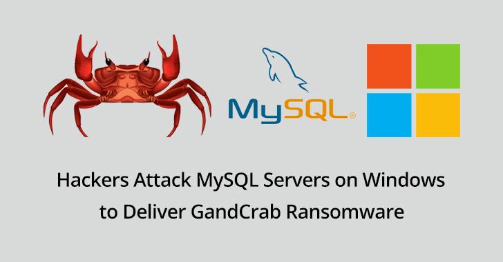 GandCrab Ransomware  - MYSQL 2Bservers - Hackers Attack MySQL Servers to Deliver GandCrab Ransomware