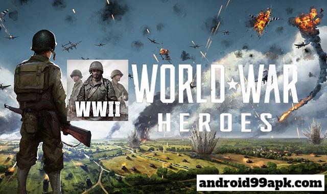 لعبة World War Heroes v1.18.0 مهكرة كاملة (بحجم 500 MB) للأندرويد