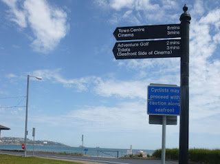 Sign for the Pirates Bay Adventure Golf in Paignton, Devon