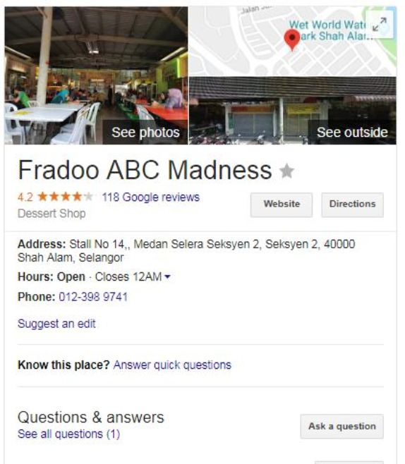 review fradoo abc shah alam