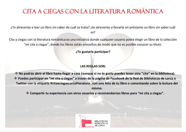 Bibliotecas de lorca cita a ciegas con la literatura - Cita romantica en casa ...