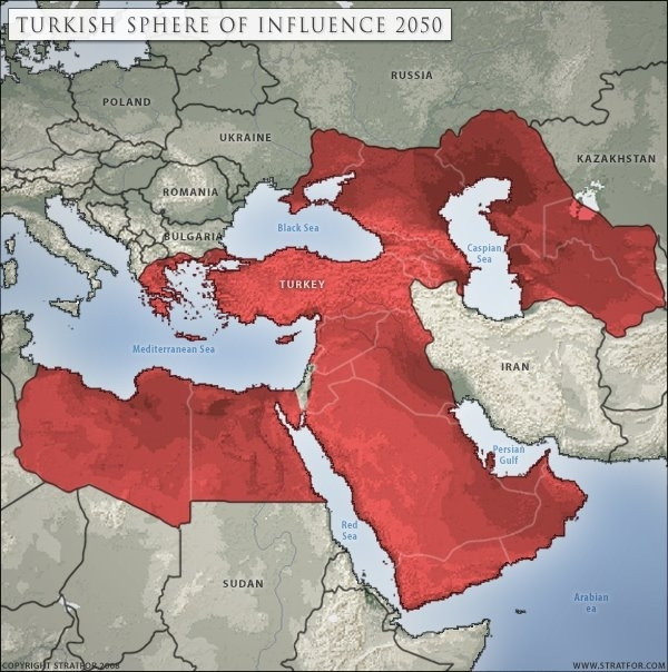STRATFOR MAP: TURKISH SPHERE OF INFLUENCE 2050
