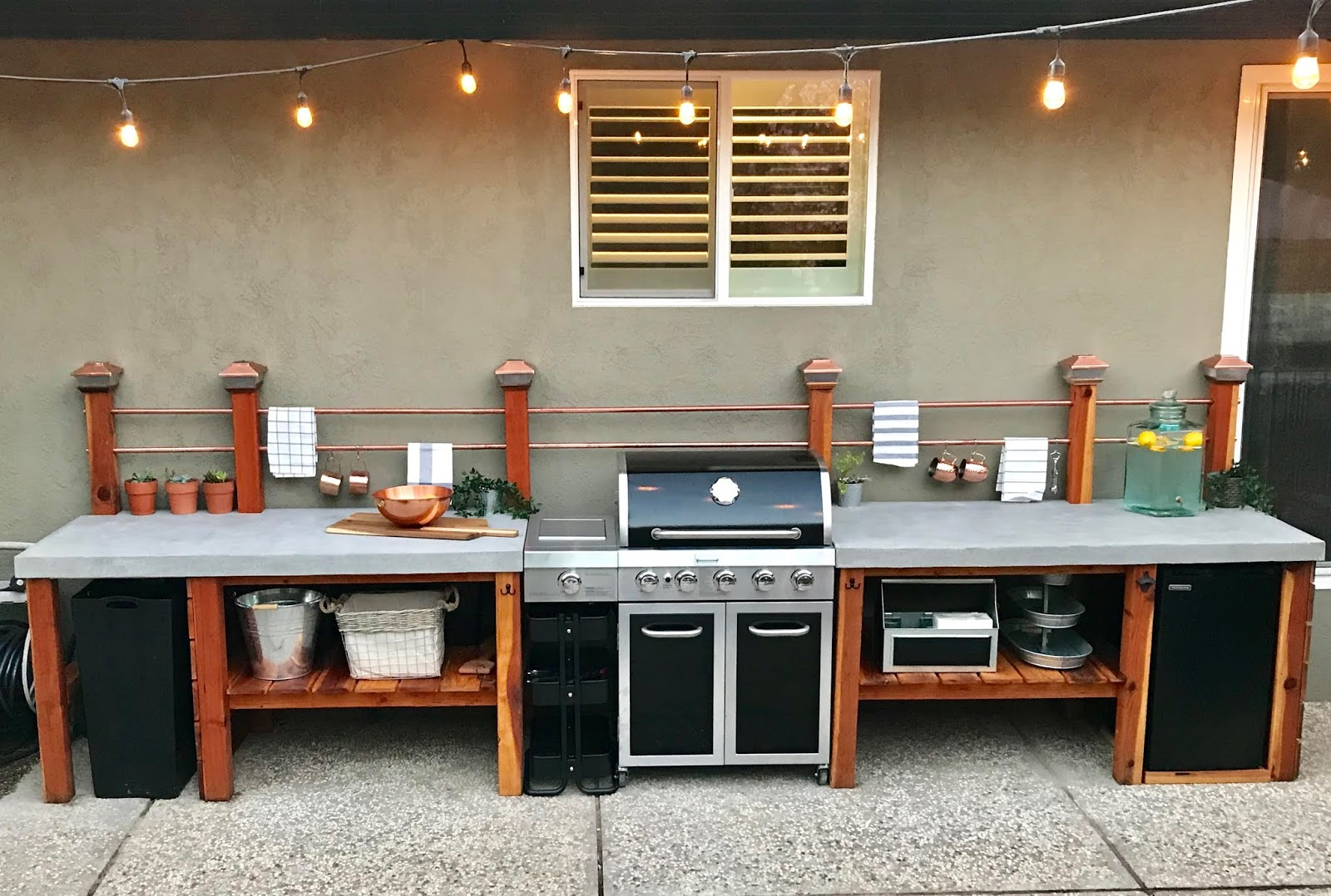 DIY Outdoor Kitchen Part 3: The Finishing Touches and ... on Patio Kitchen Diy id=49685