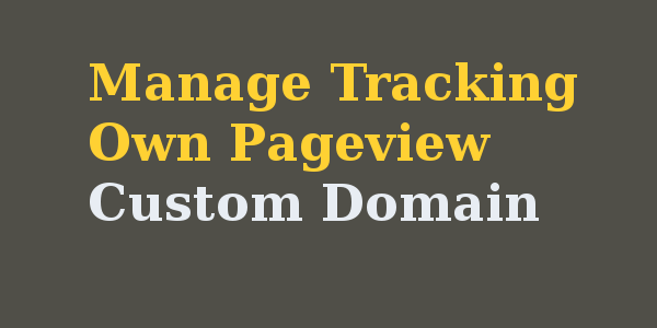 How to manage tracking own pageview for custom domain in blogger