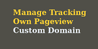Manage Tracking Own Pageview for Custom Domain Blogger