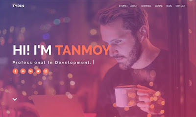 Tyrin Blogger Template