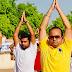 कलेक्टर, एस पी समेत जन प्रतिनिधियों आमजनों ने किया सामूहिक योगाभ्यास