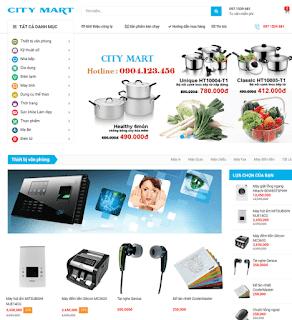 Giao diện Web bán hàng City Mart - Theme Blogspot - Blogspotdep.com