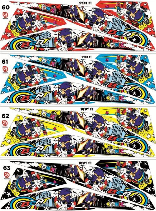 sticker Striping beat FI MINION sonic