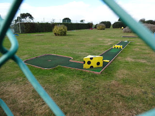 A view of one of the Crazy Golf holes on Southsea Common
