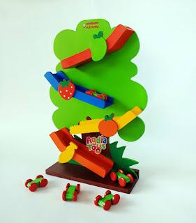 Sliding Car Pohon Mainan Kayuku Agdia