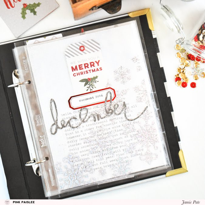 Document December by Jamie Pate with Pink Paislee Yuletide  |  @jamiepate for @pinkpaislee