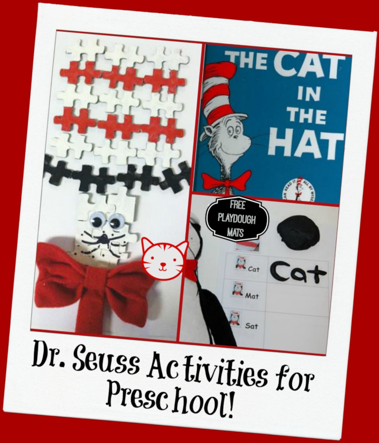 Dr Seuss Activities for Toddlers - Cat in the Hat craft