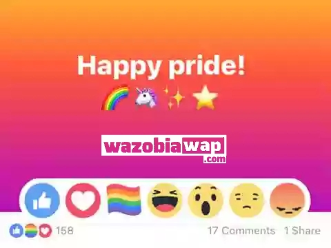 How To Get Rainbow Flag Reaction On Facebook Pride Wazobiawap