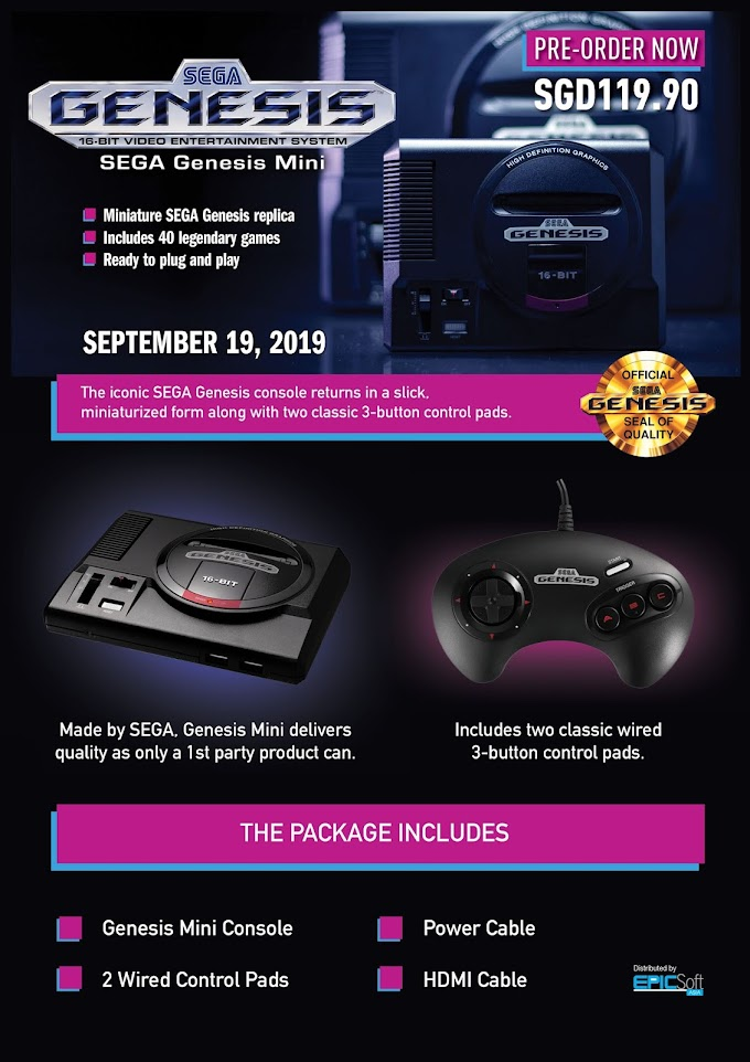 Epicsoft Asia Pte. Ltd. Launches Sega Genisis Mini in Southeast Asia