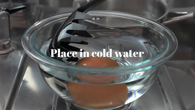 Immediately transfer to cold bath