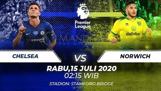 Prediksi Chelsea Vs Norwich City, Rabu 15 Juli 2020 Pukul 02.15 WIB @ Mola TV