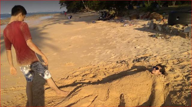 Review Pantai Tanjung Pinggir : Tiket Masuk, Gambar dan Fasilitas