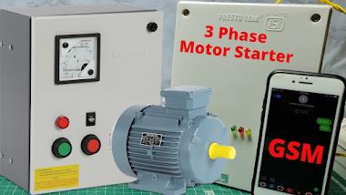 GSM Based 3 Phase Motor Control