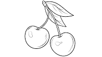 cherry blossom clip art black and white