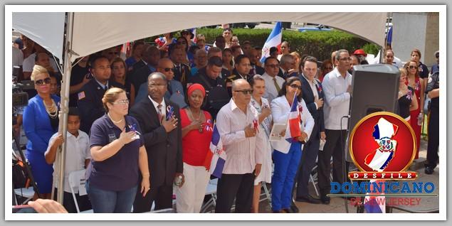 Fotos: Izamiento de la Bandera Dominicana en Paterson 2016