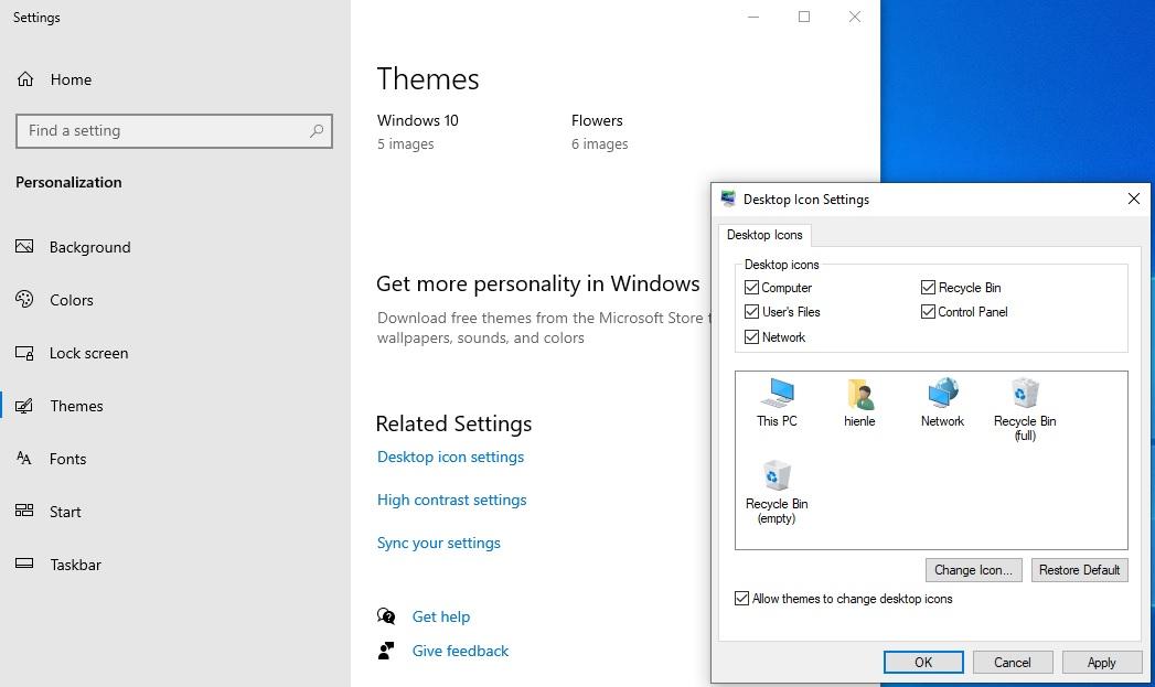 icon đưa ra màn hình desktop rất đơn giản